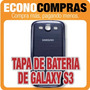 Tapa Trasera De Bateria En Azul Para Galaxy S3 100% Nueva