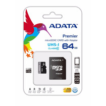 Memoria Micro Sd 64 Gb Adata Clase 10 Celulares Tablets