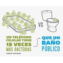 Tu Cel Tiene 18 Veces + Bacterias Que Un Baño Publico!