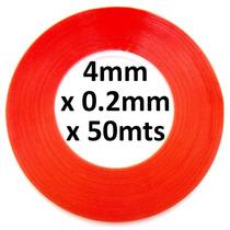 Juego De 2 Cintas Adhesivas Doble Cara De 4mm X 50metros !!
