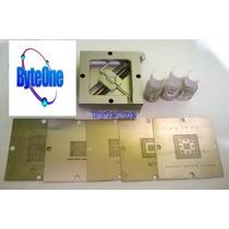 Kit 5 Stencils 80x80 Laptop + Soldadura + Base Reballing