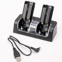 Cargador Y Baterias Recargables 2800 Mah Para Wii Mote Maa