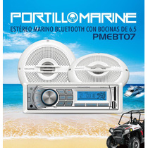 Kit Estereo Marino Bluetooth Usb+ 2 Bocinas 6.5 Envio Gratis