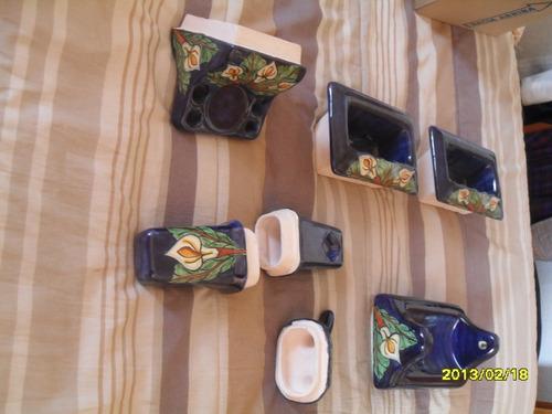 Accesorios De Baño Artesanales:Accesorios De Talavera P/ Baños – $ 90000 en MercadoLibre