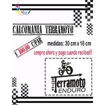 Calcomania Terramoto Para Motocicletas