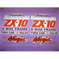 Kit De Stickers Calcomanias Para Moto Kawasaki Ninja Zx10