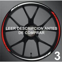 Stickers/calcomanias Para Rines Moto Modelo 3 Mercado Envio