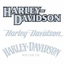 Sticker - Calcomania - Vinil - Harley Davidson 3 Logos