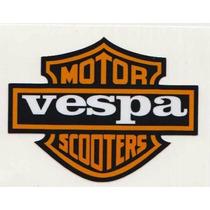Calcomania Sticker Estampa Emblema Vespa Motoneta Moto