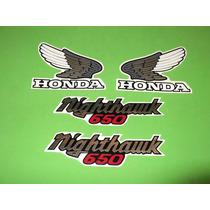 Kit Sticker Calcomanias Para Moto Honda Nighthawk 650 Año 84