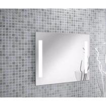Espejos Grandes Iluminación Luz Led Integrada 130x110 Cm