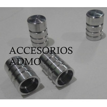 Tapones Cromados Aluminio Para Valvula O Pivote De Llanta