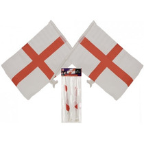 Banderas Inglaterra - Twin Pack Car Design 15x10 San Jorge