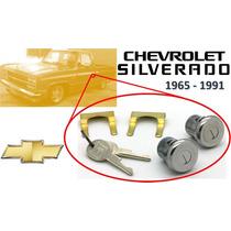 65-91 Chevrolet Silverado Chapas Para Puertas Con Llaves Crm