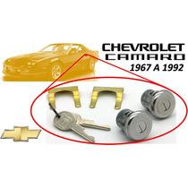 67-92 Chevrolet Camaro Chapas Para Puertas Llaves Cromadas