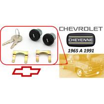 65-91 Chevrolet Cheyenne Chapas Para Puertas Llaves Negro