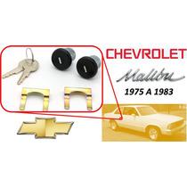 75-83 Chevrolet Malibu Chapas Puertas Llaves Color Negro