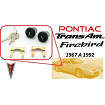 67-92 Pontiac Trans Am Chapas Puertas Llaves Color Negro