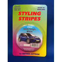 Racing Stripes - 6mm Sola Raya Blanca 10 Metros De Largo