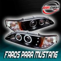 Faros Para Mustang Con Ojo De Ángel Mod. 1994 - 1998