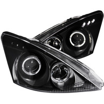 Ford Focus 00-02 Projector H.l Halo Black Clear With Led