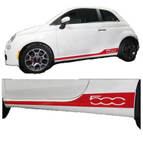 Tiras Para Paneles Laterales Para Fiat 500 2007 - 2014