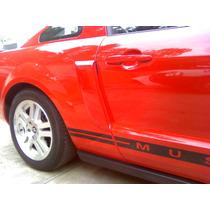 Louvers Para Mustang Pintados En Rojo Bicapa Nuevos