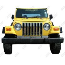 Jeep Wrangler Insertos De Parrilla Cromado Importada Sp0