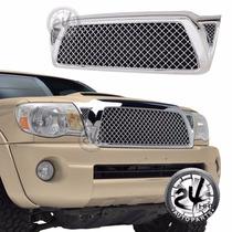 Toyota Tacoma Parrilla Estilo Mesh Cromada Importada