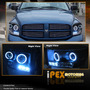 Dodge Ram Faros Proyector Doble Aro Angel Punto De Led Au1