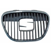 Parrilla Seat Ibiza 2003-2004-2005-2006-2009 Central Cromada