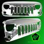 Jeep Wrangler Parrilla Frontal Cromada 2007 Al 2015 Importad