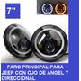 Faro Led Para Jeep Con Oje De Angel Y Direccional Integrado
