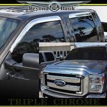 Super Duty Ford Visores Puertas Y Cofre Cromados Importados