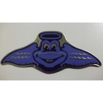 Emblema Metalico Frogs Azul Adherible