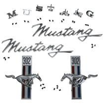 Kit De Emblemas Para Ford Mustang 302 1968