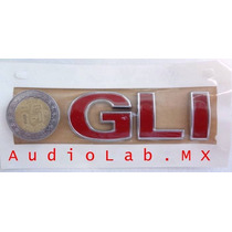 Emblema Cajuela Nuevo Vw Jetta Gli Rojo Original Mk4 99-2007