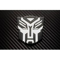 Emblema Transformer Autobots Autoadherible Fibra De Carbono