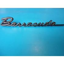 Emblema Barracuda 1968 Lateral Plymouth