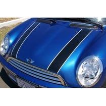 Sticker Vinil Franjas Hood Bonnet Stripes Bicolo Mini Cooper