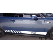 Sticker Vinil Tuning Franja Lateral Jhon Cooper Mini Cooper