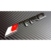 Emblema Trd Toyota Metálico Tacoma Corola Autoadherible Negr