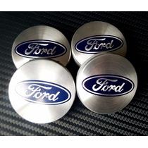Centros De Rin Ford 54mm 4pzas Tapones Rines Color Aluminio