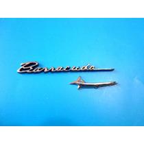 Emblema Plymouth Barracuda Para Tablero