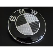 Emblema Cofre O Cajuela Bmw 82mm Fibra Carbono 1 Pieza