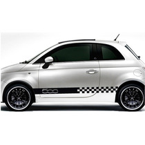Franjas Sticker Vinil Fiat 500 Check Lateral Stripe