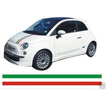 Franjas Sticker Vinil Fiat 500 Transversal Italian Stripe