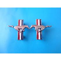 Emblemas Mustang Tapas De Puerta Ford Metalicos Caballos