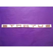 Emblema Stratus Dodge Letras Cajuela