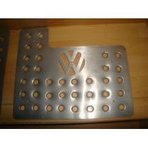 Posapies Logo Volkswagen Aluminio Troquelado 3 Piezas